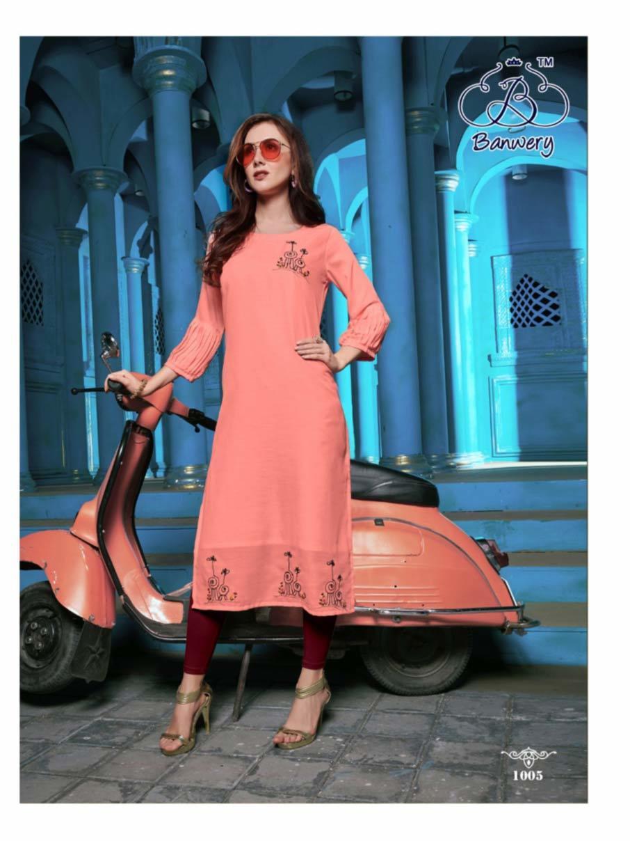 Fashion Grass Viscose Cotton Kurti Apparel
