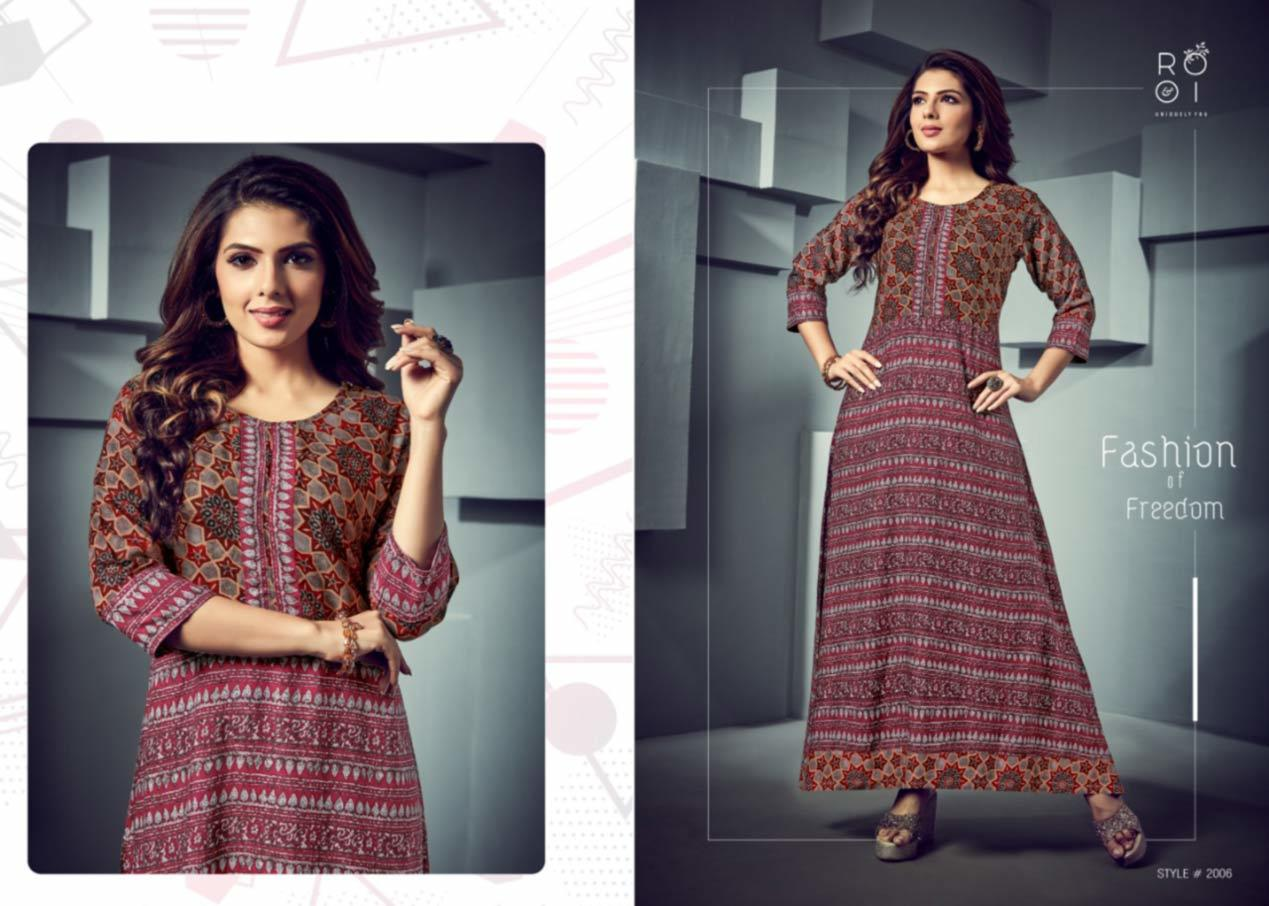 Fashion Season Rayon Print Ladies Kurti