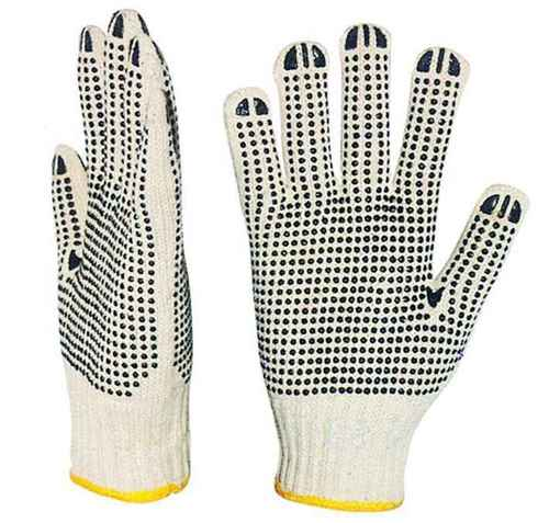 Cotton Knitted Doted Gloves