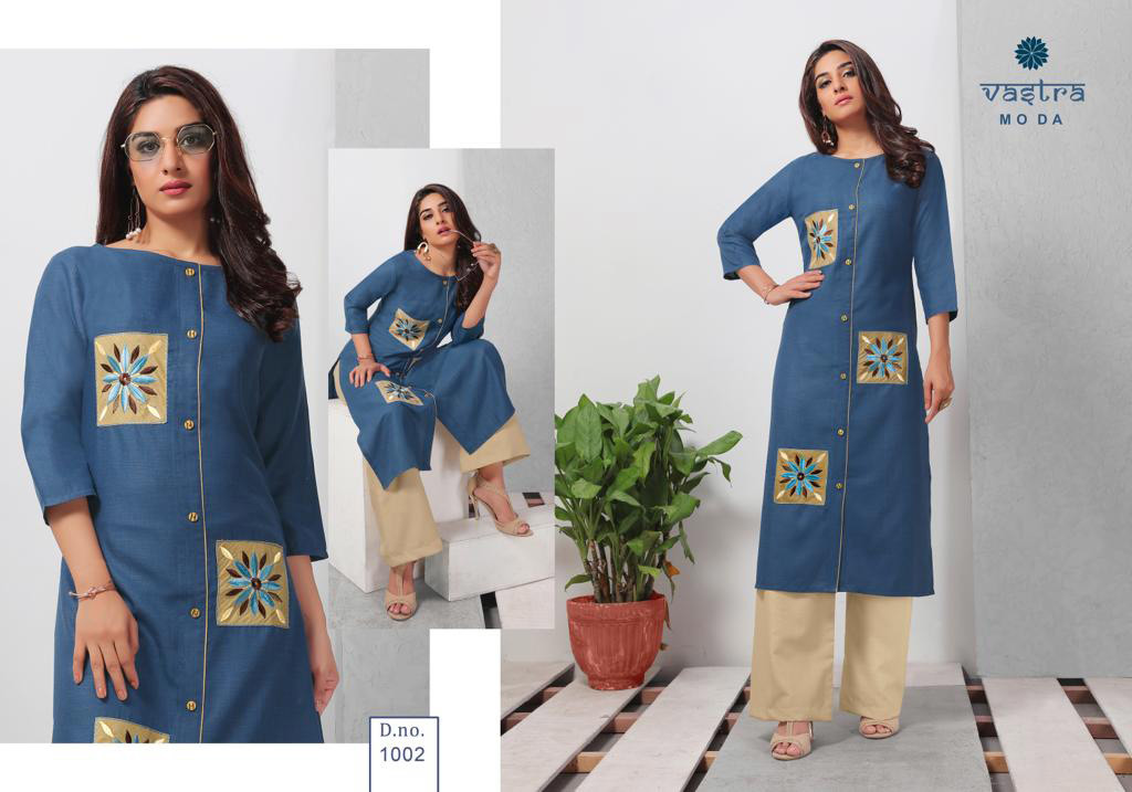 Fashion Vol-1 Vastra Moda Aplique Work Kurti