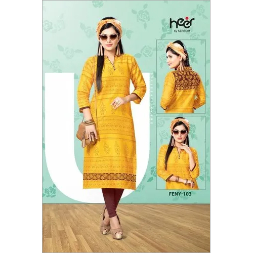 Feny Cotton Kurti Design Catalog by Heer