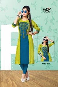 Feny Cotton Kurti Design Catalog by Heer