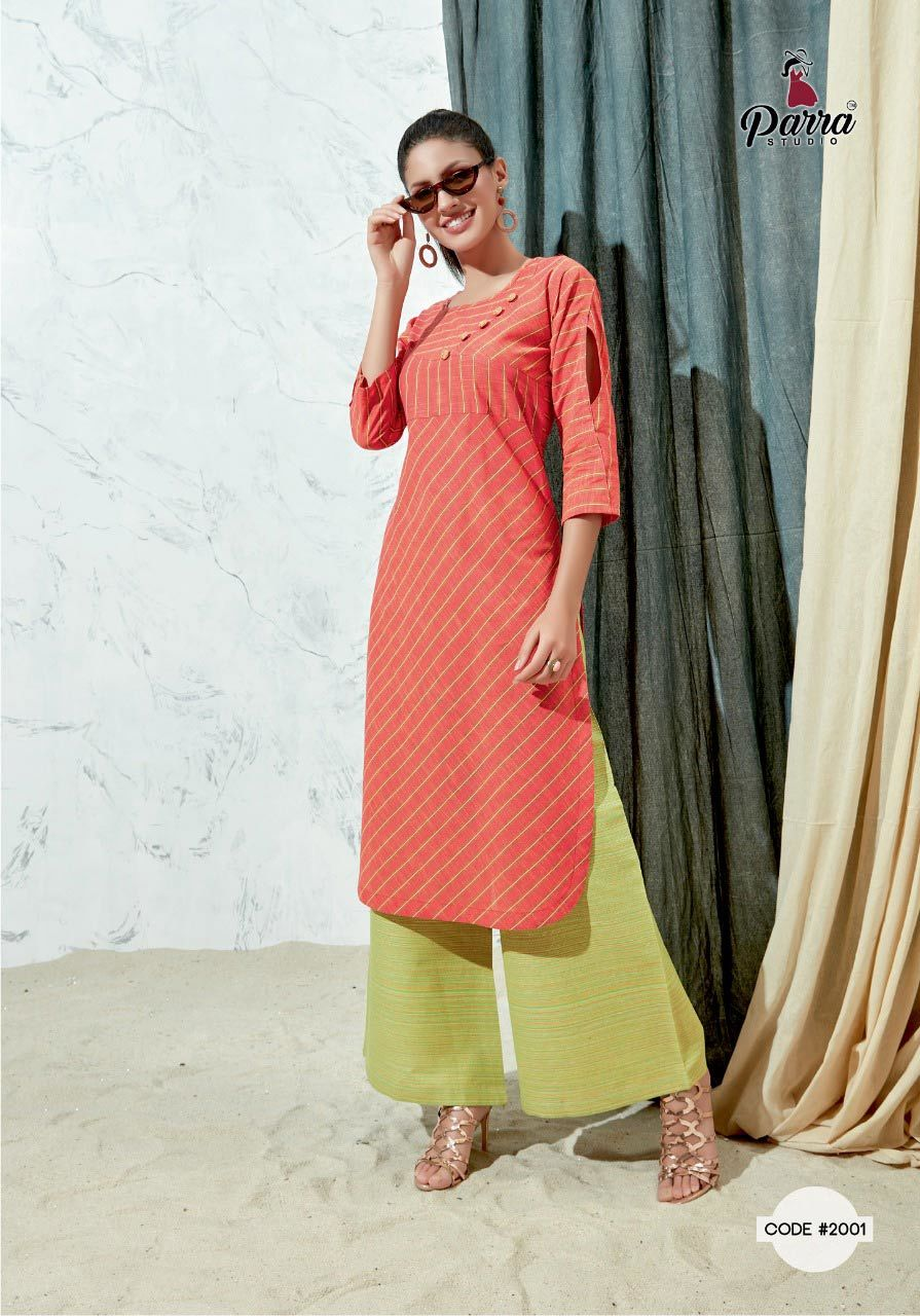 Firoza Parra Studio Cotton Kurti with Palazzo Bottom