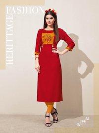 Flora Leher Fashion Launched Reyon Print Kurti