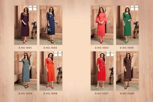 Florence Vol-1 Volono Trendz Rayon Kurti Wholesaler