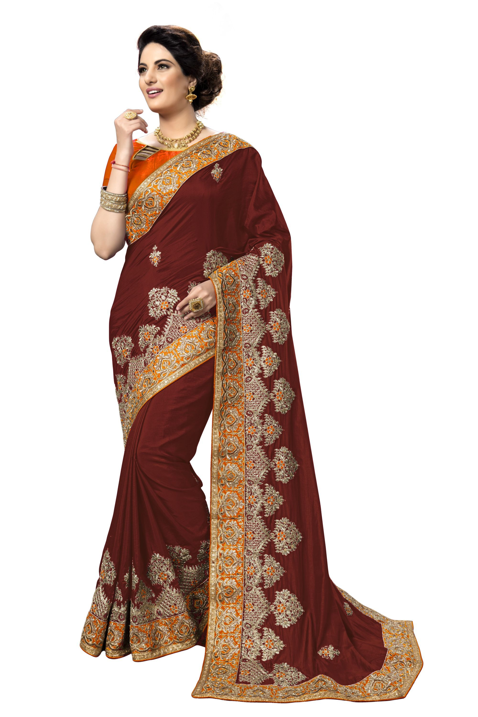 Traditional embroidered Ethnic wear Silk Saree collection
