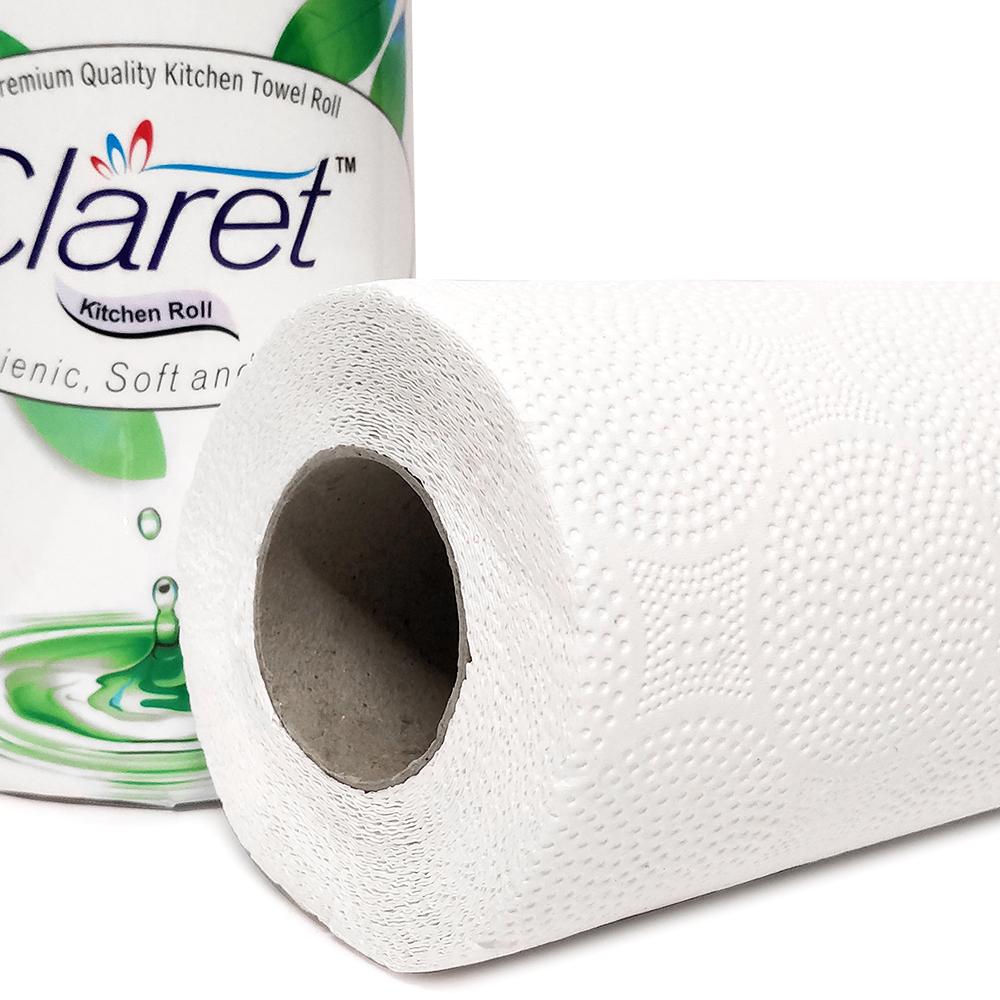 CLARET Kitchen Tissue rolls, Kitchen Towel Single - 4 PLY