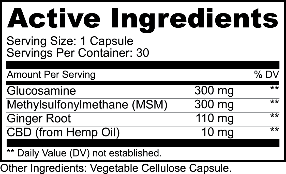 HERBAL Joint Supplement Tablets / Capsule