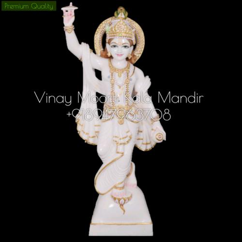 Chakradhari Vishnu Ji Marble Statue