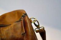 PRASTARA Genuine Leather Weekender Duffel Bag for Travel for Men and Women 24 * 10 * 10 inch Brown Travel Duffel