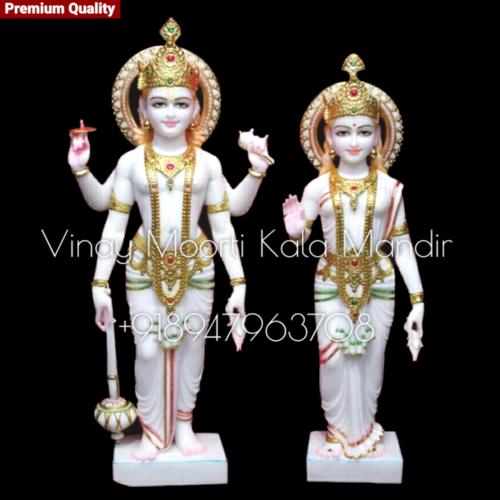 Iskcon Lakshmi Narayan Marble Statue