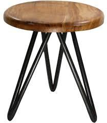 Metal and Wood Stool in Modern Bar Stools
