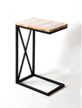 C- Table Iron and wood