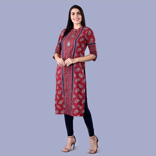 Ladies Cotton Cambric Kurti