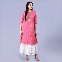 Ladies Chanderi Cotton Kurti