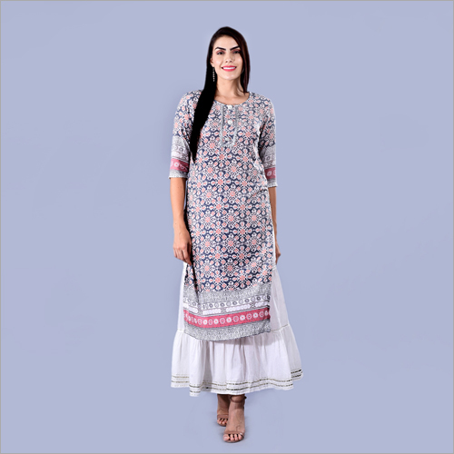 Ladies Ethnic Printed Kurti