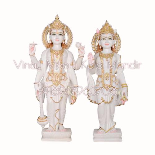 Vishnu Lakshmi Marble Moorti