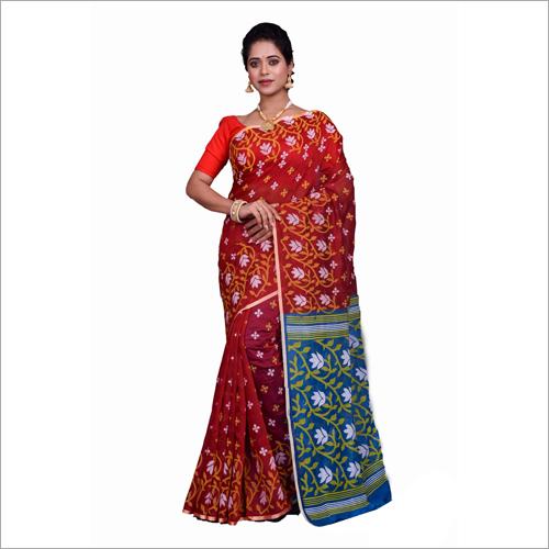 Cotton Silk Block Print Saree