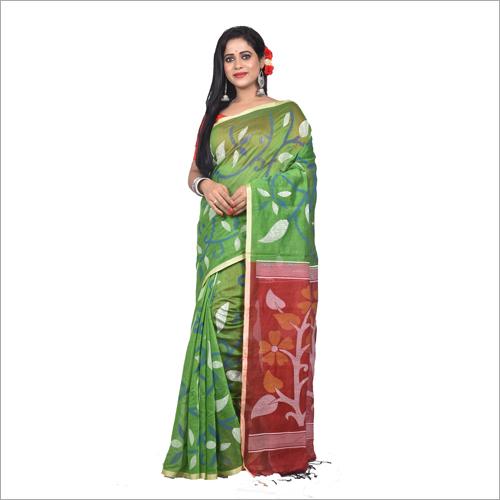 Cotton Block Print Saree