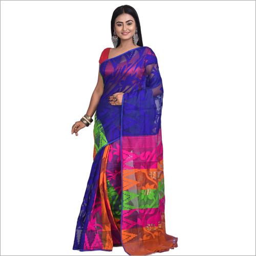 Ladies Resham Dhakai Jamdani Saree