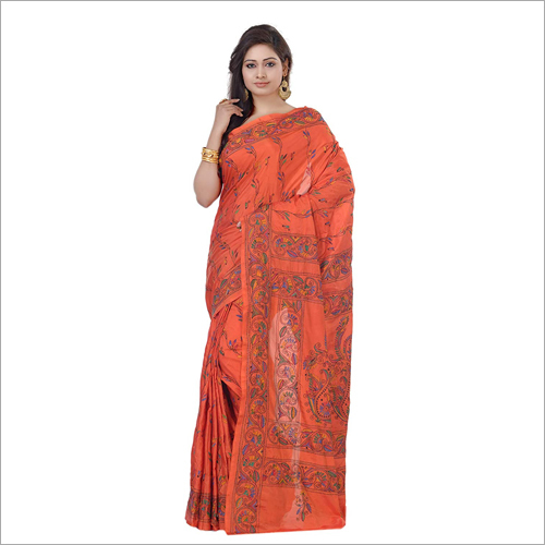 Kantha Stitch Printed  Saree