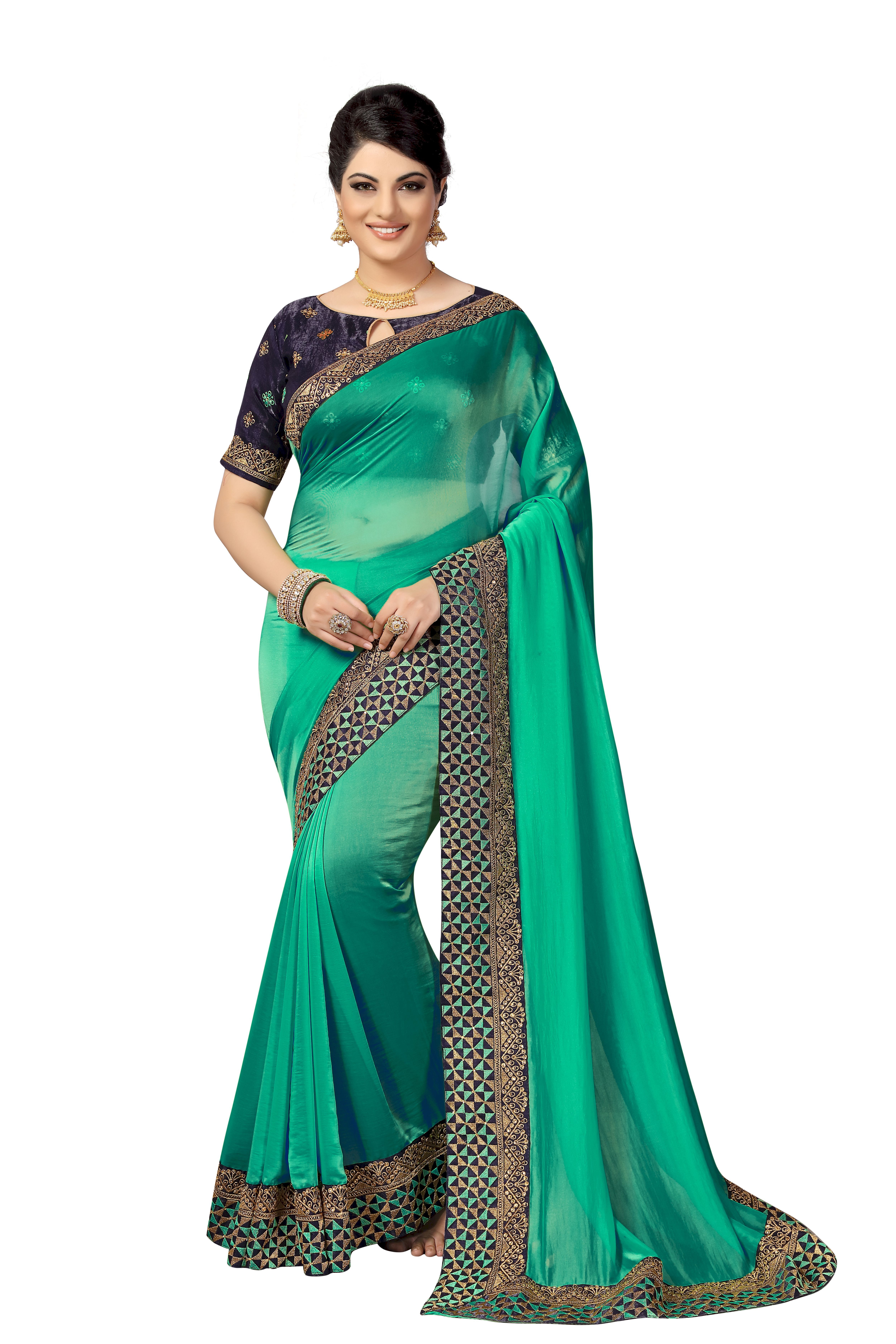 Party Wear satin Saree collection