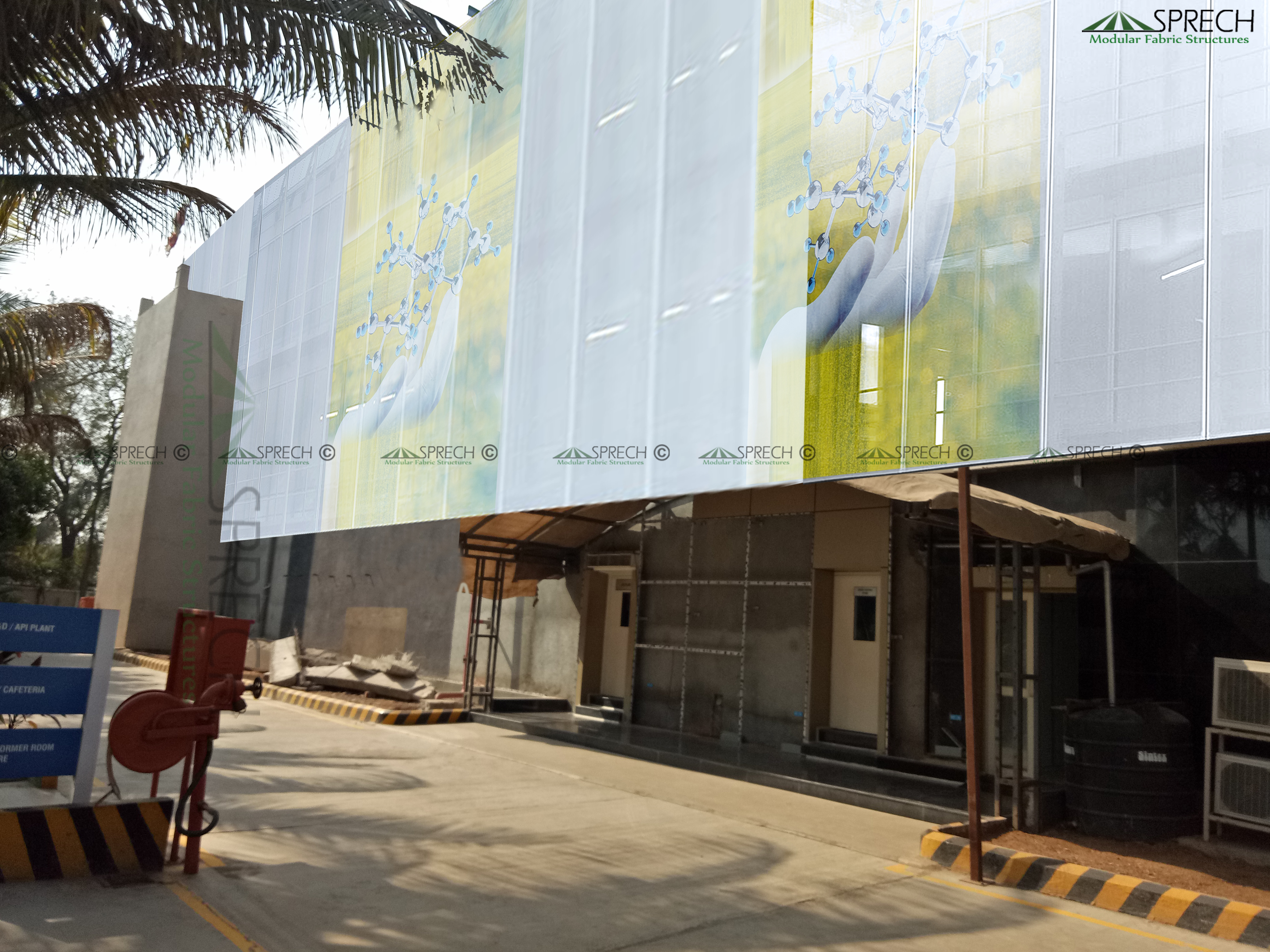 Fabric Facade For Building Wrap