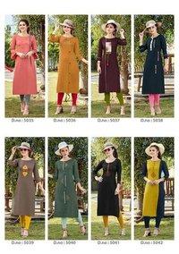Pahal Whosale Designer Rayon kurti