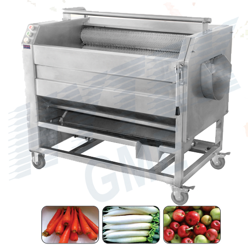 Carrot Washing And Peeling Machine