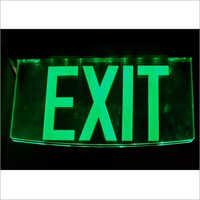 Acrylic Glow Exit Signage