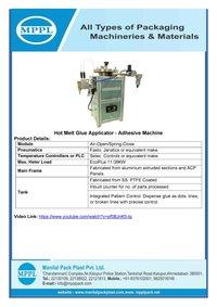 Hot Melt Glue Applicator Adhesive Machine