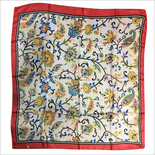Printed Square Silk Scarves