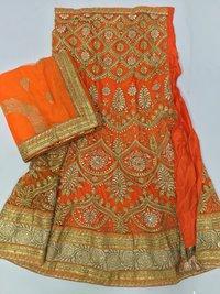 Embroidered Semi Stitched Wedding lehenga Choli