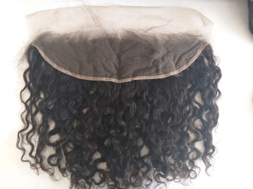 Natural Curly Transparent Lace Frontal 13x4