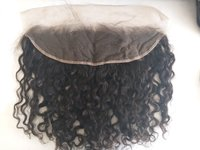 Natural Curly Transparent Lace Closure