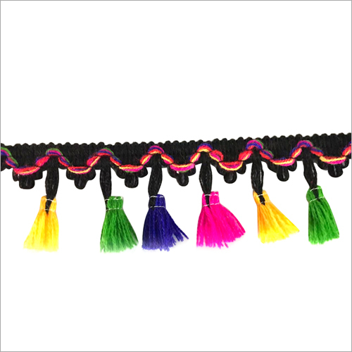 Multi Color Ghanti Lace