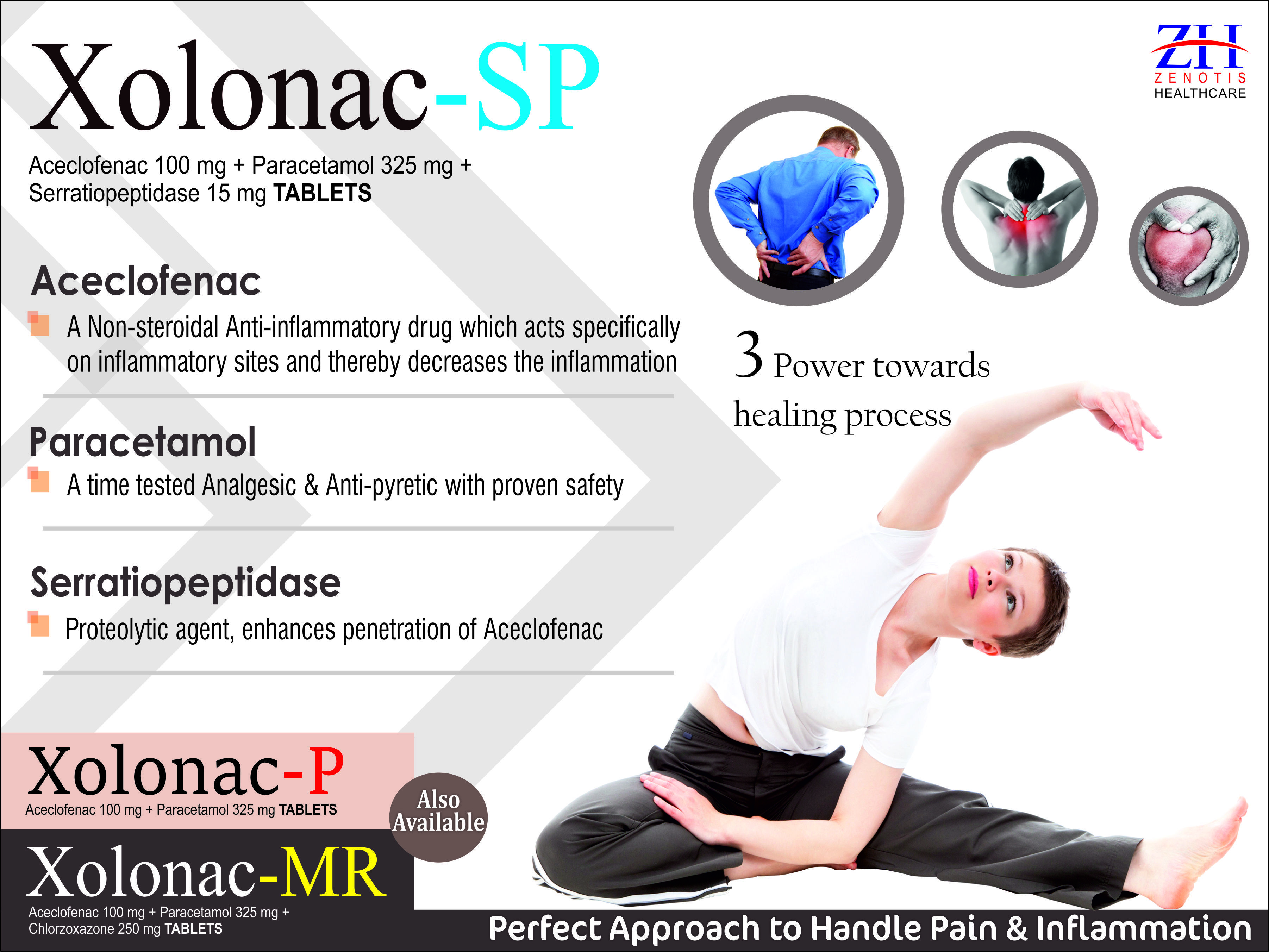 Aceclofenac 100mg & Paracetamol 325mg Tablets