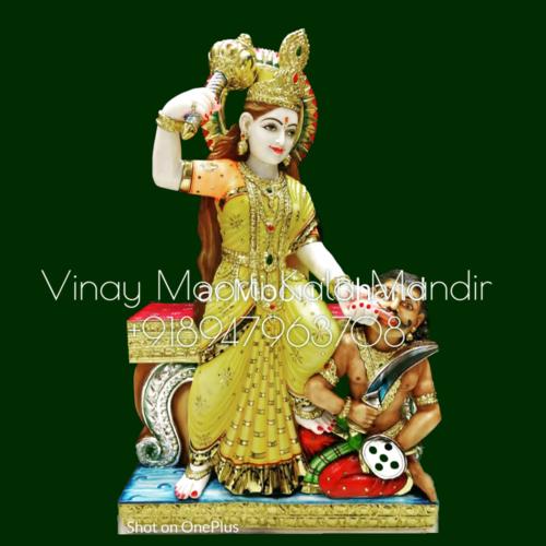 Baglamukhi Marble Statue