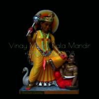 Multicolor Baglemukhi Marble Statue