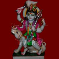 Marble Kaal Bhairav Statue