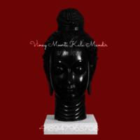 Black Marble Buddha Head
