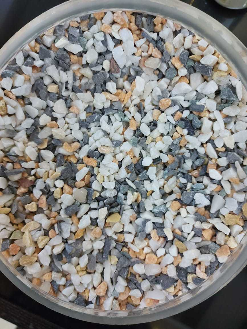 Natural multi color marble crushed chips round mix marble aggregate