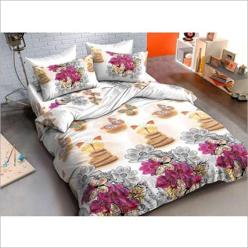 Glace Cotton Designer Printed Bed Sheets