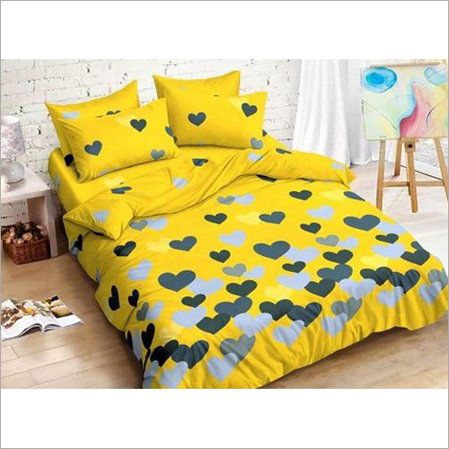 Glace Cotton Heart Print Bed Sheets
