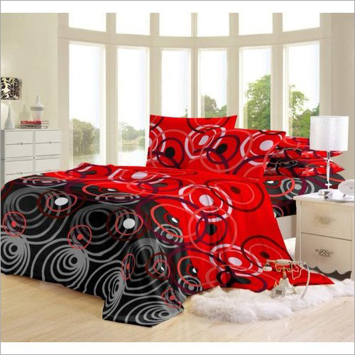 Polyster Designer Bed Sheet
