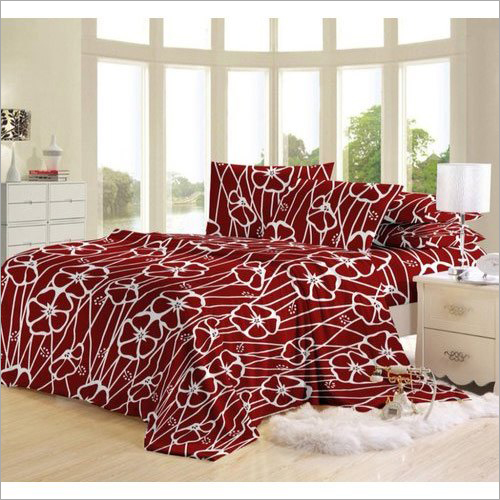 Polyester Designer Double Bed Sheet