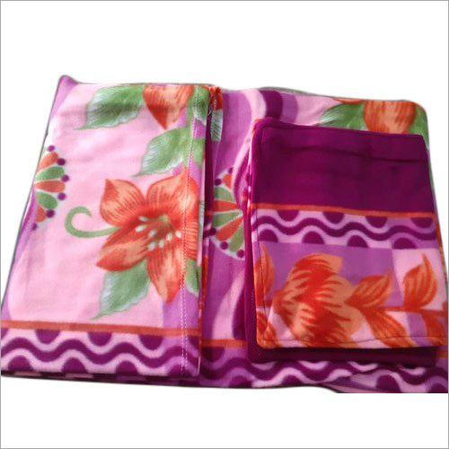 Fleece Double Bed Sheet Set
