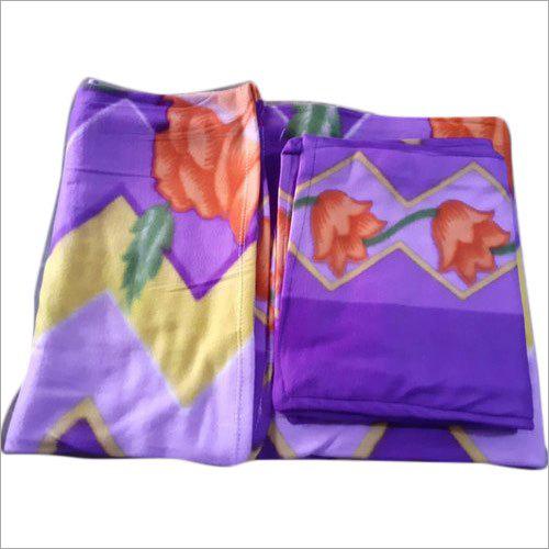 Designer Printed Fleece Bed Sheet Set