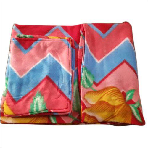 Fleece Printed Double Bed Sheet Set