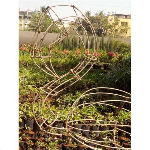 Metal Flamingo Topiary